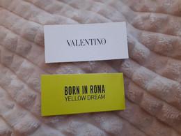 1 Carte Parfumee  Valentino - Modern (from 1961)