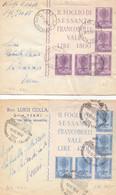 DUE Lettere Con Lotta Contro La Malaria Con Bella Affrancatura - 1946-60: Marcofilia