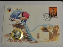 Lettre Avec Pièce Tunisie - Tunisia