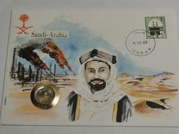 Lettre Avec Pièce Arabie Saudite - Saudi Arabia