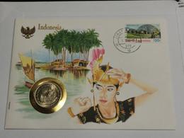 Lettre Avec Pièce Indonesia - Indonesia
