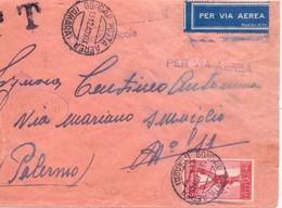 1940 Aerogramma Da AMARA Per Palermo - Marcofilía