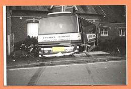 PHOTO ORIGINALE - ACCIDENT DE BUS AUTOCAR CAR VOYAGES GERPHIL BRÉTIGNY SUR ORGE - CRASH CAR BUS - Automobile