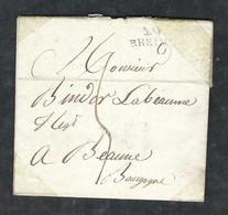 Lettre Du 15 Germinal 13 - Reçue Le 9 Avril 1805 - Marque Linéaire De Rheims (Reims) Pour Beaune MA 10-1-1 - 1801-1848: Precursors XIX