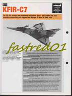 Fiche Technique: IAI KFIR-C7.  (ISRAEL 1973)  . - Collections