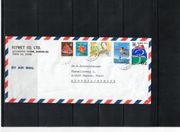Japan 1990 Interesting Airmail Cover - Cartas