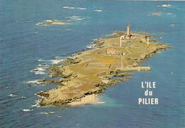 85. ILE DE NOIRMOUTIER. CPSM. VUE AERIENNE. ILE ET PHARE DU PILIER - Ile De Noirmoutier