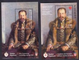 Croatia + Malta 2013 / Teodor Pejacevic - Knight Of The Sovereign Military Order Of Malta, SMOM / Joint Issue - Kroatien