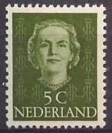 Nederland 1949 NVPH Nr 518 Postfris/MNH Koningin Juliana - Unused Stamps