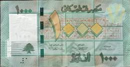 RS0216 - Lebanon 1000 Lives Banknote 2012 P.90b Prefix # K/13 And Serial #1332133 - Lebanon