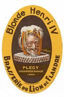 Ancienne étiquette Brasserie Du Lion De Flandre à Coudekerque 59 - Bier