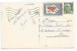 GANDON 3FR VERT + VIGNETTE CINQ FRANC LA GAIETE FONDATION CH FREVAN OBL DEAUVILLE 1948 - 1945-54 Marianne De Gandon