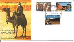 AUSTRALIE PREMIER JOUR FDC 1976 EXPLORATEURS - Premiers Jours (FDC)