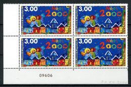 SPM MIQUELON 2000 N° 726 ** Bloc De 4 Neuf MNH Superbe C 6.80 € Noël Christmas Eglise Church Anges Maisons - Neufs