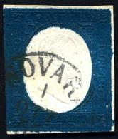 "1854 SARDEGNA III EMISSIONE 20 CENT. AZZURRO N.8 ANNULLO ""NOVARA 1 OTT 55"" - VERY FINE USED - Sardegna"