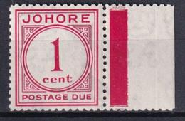 JOHORE - 1938 - TAXE YVERT N°1 ** MNH ! SUPERBE ! - - Johore
