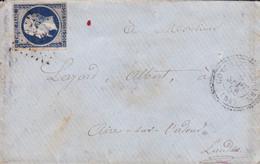 Yvert 14A Bleu Foncé LSC  Type I Empire Francs Cachet 22  Conhez De Béarn 1858 - Non Classificati