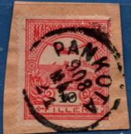 Pankota Transsylvania, Romania, Transsylvania 1908 Full Cancel On Hungary 10 Fil Turul 2102.2002 - Poststempel (Marcophilie)