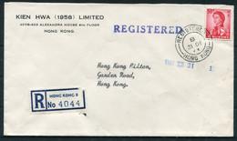1963 Hong Kong Registered Cover - Garden Road, Hilton Hotel - Briefe U. Dokumente