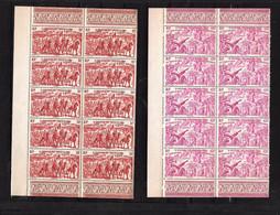 ST-PIERRE ET MIQUELON  PA . Tchad Au Rhin Série  Neuf ** N° 12 à 17 .blocs De 10 Timbres . - 1946 Tchad Au Rhin