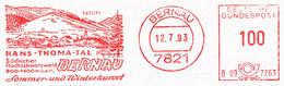 Freistempel 9687 Hans Thoma Tal Skilift Kurort Bernau - Affrancature Meccaniche Rosse (EMA)