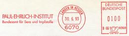 Freistempel 9695 Paul Ehrlich Institut Langen - Affrancature Meccaniche Rosse (EMA)
