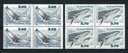 SPM MIQUELON 2000  N° 707/708 ** Bloc De 4 Neufs MNH Superbes C 24.80 € Faune Cétacés Marine Mammals Baleine Rorqual - Neufs