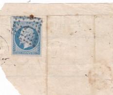 Yvert 14A  Ou B Empire Franc  Bleu Foncé Sur Fragment - Non Classificati