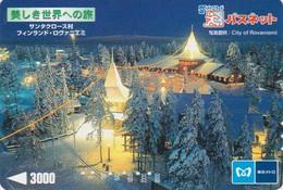 Carte Prépayée JAPON - Série Site Metro 2 - FINLANDE - LAPONIE - ROVANIAMI - FINLAND Rel. JAPAN Prepaid Card - 02 - Paysages