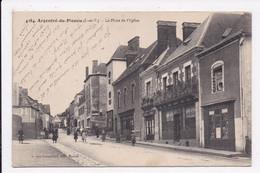 CP 35 ARGENTRE DU PLESSIS La Place De L'église - Autres Communes