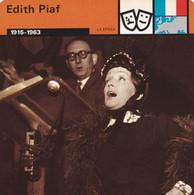 FICHA LA EPOCA: EDITH PIAF. 1915-1963 - Unclassified