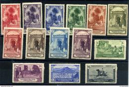 MA105CF-LTEUROPESPCOLMARR..Maroc Marocco MARRUECOS ESPAÑOL.PAISAJES Y MONUMENTOS 1928 (Ed 105/18*) .MAGNIFICA RARA - Spanish Morocco