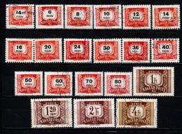 UNGHERIA - 1958 - CIFRE - SEGNATASSE - USATI - Postage Due