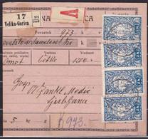 Slovenia, Chainbreakers, 1920, Velika Gorica, Parcel Card - Briefe U. Dokumente