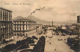 CPA Europe > Italie > Campania > Napoli (Naples) Piazza Del Municipio Cachet Hotel Eldorado Modern - Napoli (Naples)