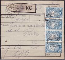 Slovenia, Chainbreakers, 1920, Maribor, Parcel Card - Briefe U. Dokumente