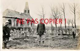 PHOTO FRANCAISE - LE CIMETIERE MILITAIRE DE FONTAINE LES CAPPY PRES DE CHUIGNES - DOMPIERRE SOMME - GUERRE 1914 1918 - 1914-18