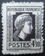 FRANCE Marianne D'Alger N°644 Oblitéré - 1944 Coq Et Marianne D'Alger