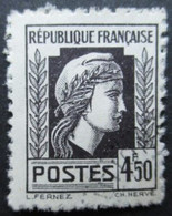 FRANCE Marianne D'Alger N°644 Oblitéré - 1944 Marianne Van Algerije