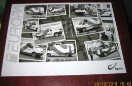 Zwart/Wit - Noir Et Blanc -Black & White Sheet / Blok 205 Postvoertuigen Van Tegenwoordig 4312/13** Voitures Pour B-Post - Hojas Blanco & Negro
