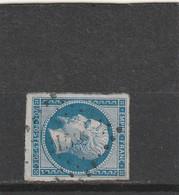 N° 14 B   PC 2153  MORANNES  (47 )  MAINE ET LOIRE - REF LIG 37 - IND 12 - 1853-1860 Napoleon III