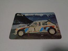 Rally Rali Raly Monte Carlo Portugal Portuguese Pocket Calendar 1986 - Small : 1981-90