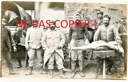 PHOTO FRANCAISE - LA ROULANTE ET LES CUISTOS A CHUIGNOLLES PRES DE CHUIGNES - CAPPY SOMME - GUERRE 1914 1918 - 1914-18