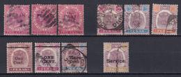 PERAK - 1883/1899 - PETIT LOT OBLITERES TB - - Straits Settlements