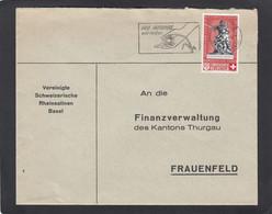 """VEREINIGTE SCHWEIZERISCHE RHEINSALINEN,BASEL. BRIEF MIT B.MARKE """"BUNDESFEIER 1940"""". - Storia Postale"""