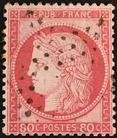 YT 57 Etoile Paris (°) III République 1871-75 80c Cérès Gros Chiffres (15 + 5 Euros) France – Fggy - 1871-1875 Ceres