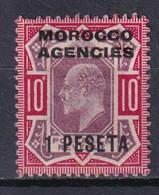 MOROCCO / MAROC ANGLAIS - 1907 - YVERT N°30 * MH - COTE = 23 EUR. - Morocco Agencies / Tangier (...-1958)