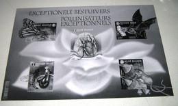 Zwart-Wit Blok Exceptionele Bestuivers / Pollinisateurs (Noir Et Blanc) Black & White Sheet - Hojas Blanco & Negro