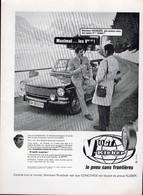PUBLICITÉ - AUTOMOBILE - PNEU KLEBER V 10 GT - 1969 - Publicités