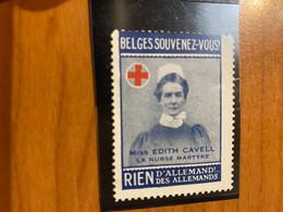 Vignette - Belges Souvenez-vous -  Croix Rouge / Militaire - Croix Rouge